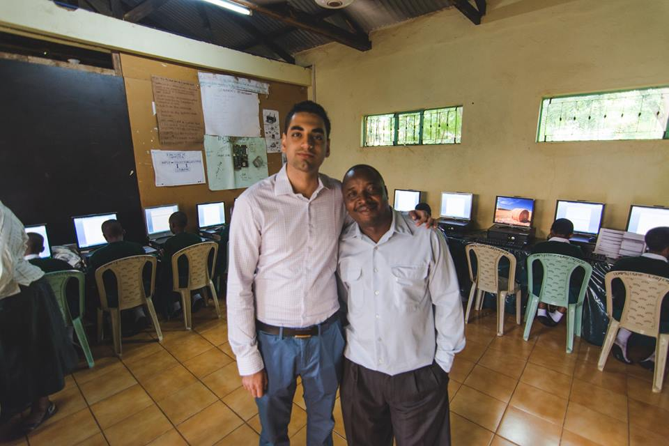 Chirag with Anza entrepreneur Robert - CEO of ACTT